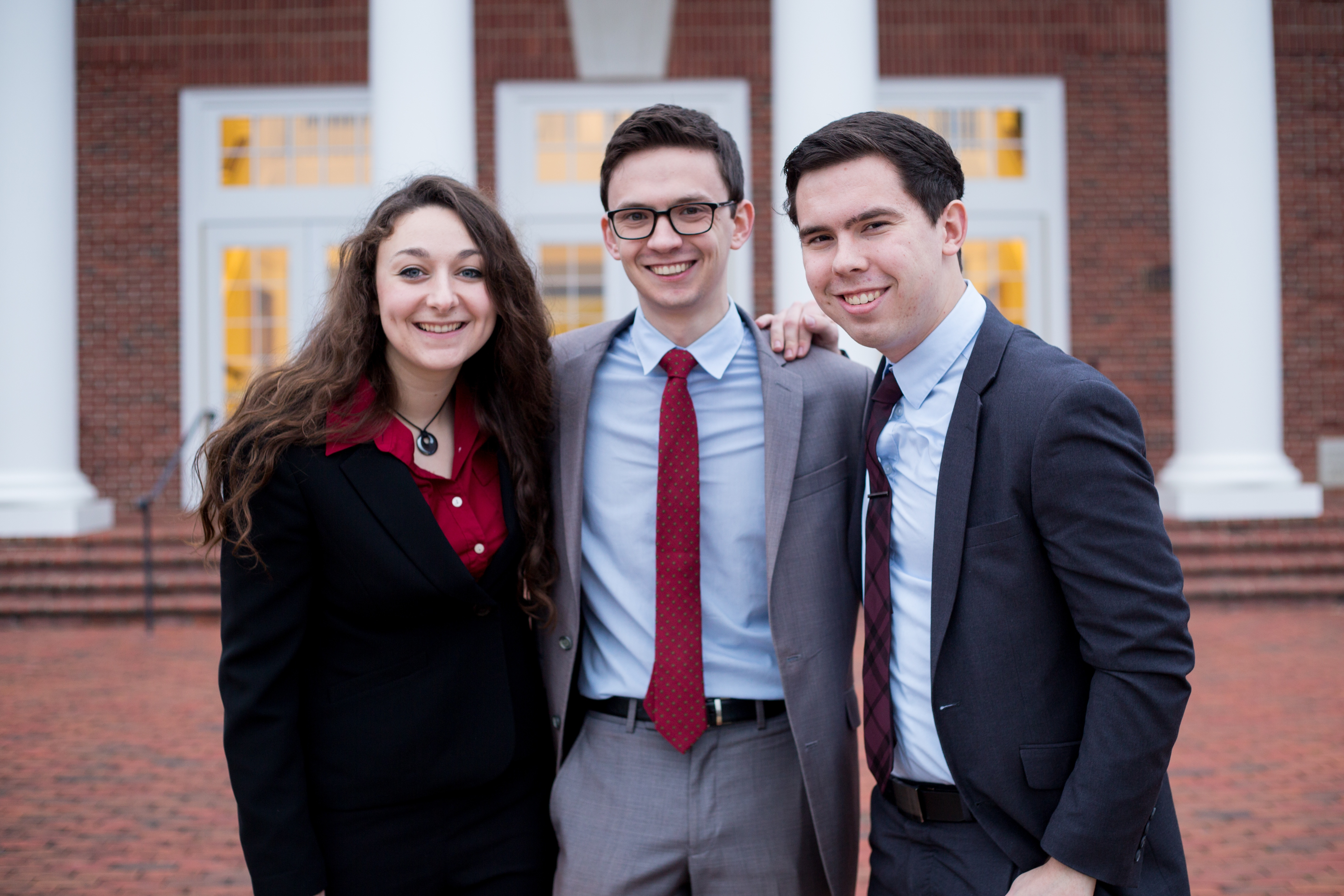 Patrick Henry College (PHC) students Sarah Geesaman, Christian McGuire, and Keith Zimmerman
