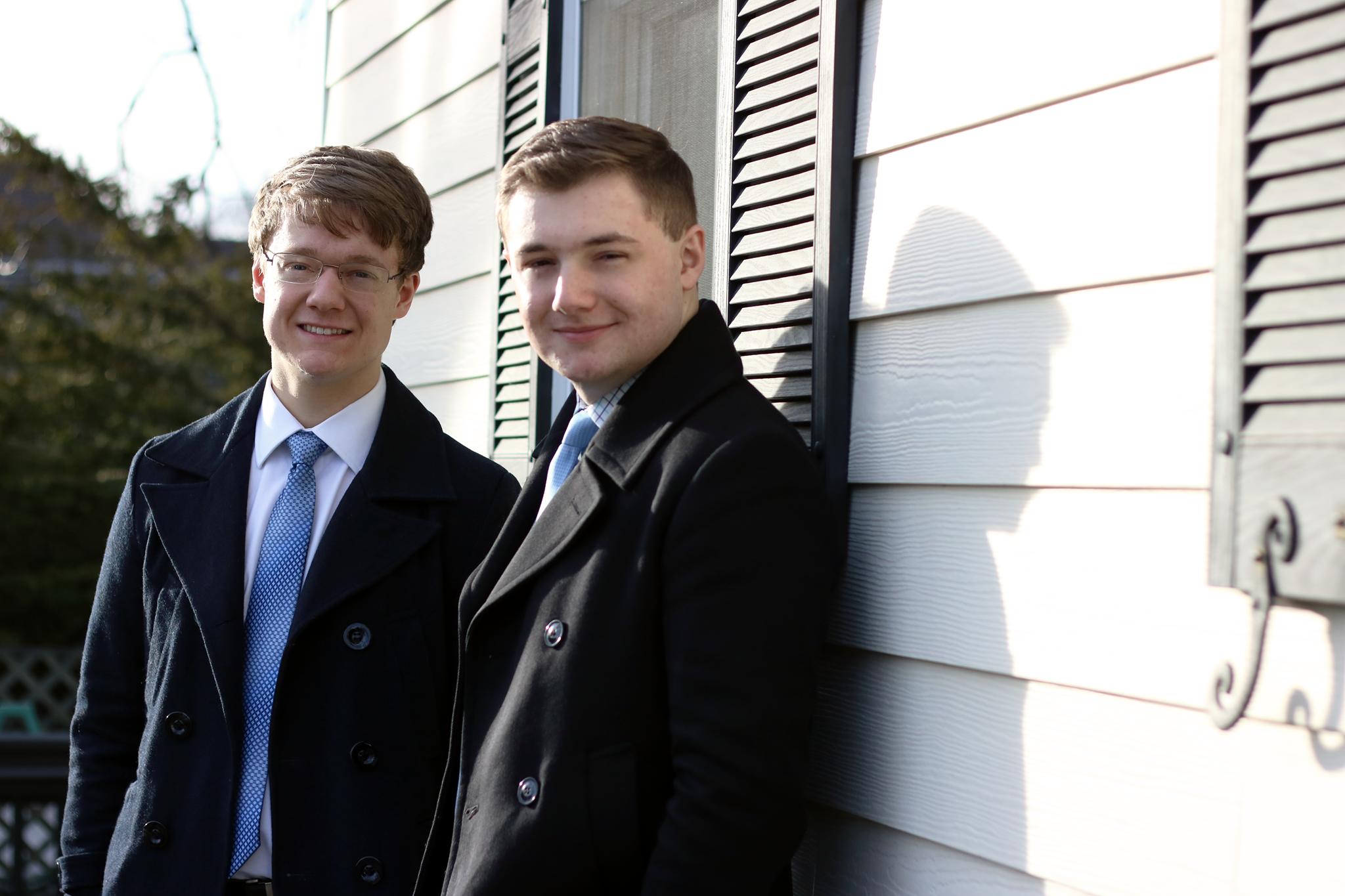 Patrick Henry College (PHC) student body Vice President-Elect Matthew Hoke and President-Elect Daniel Thetford