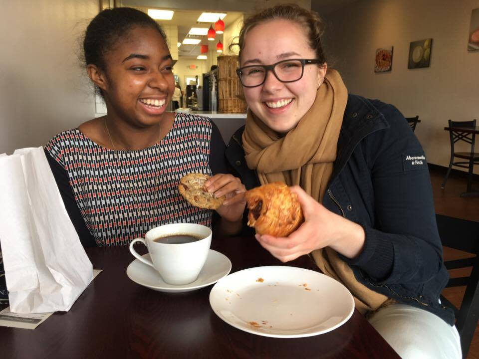 Patrick Henry College (PHC) students hang out at Layered Cake Patisserie in Leesburg, Virginia