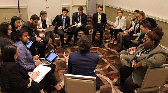 A National Model United Nations (NMUN) committee at work