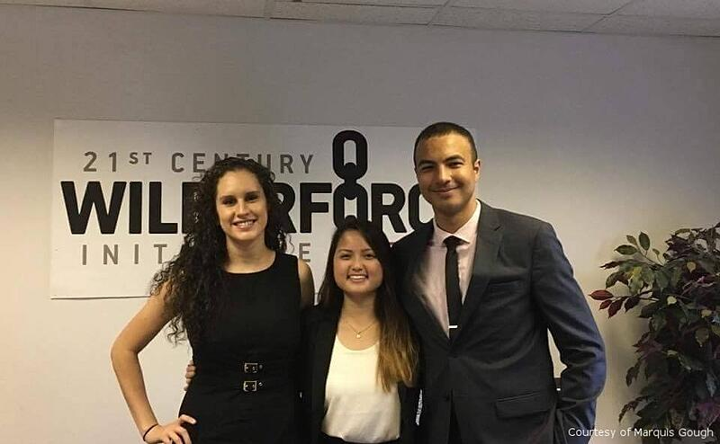 Sequoia Poths & Marquis Gough interning at 21st Century Wilberforce Initiative
