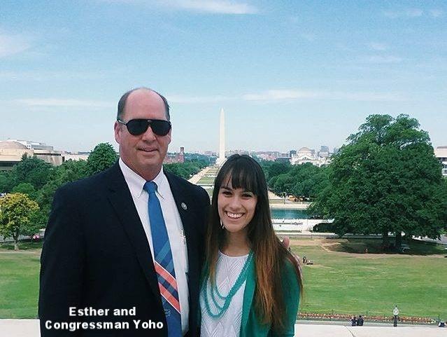 Esther with Congressman Ted Yoho