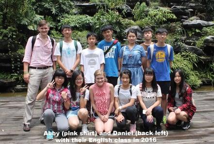 Abby and Daniel in Dongguan