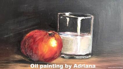 Oil painting by Adriana