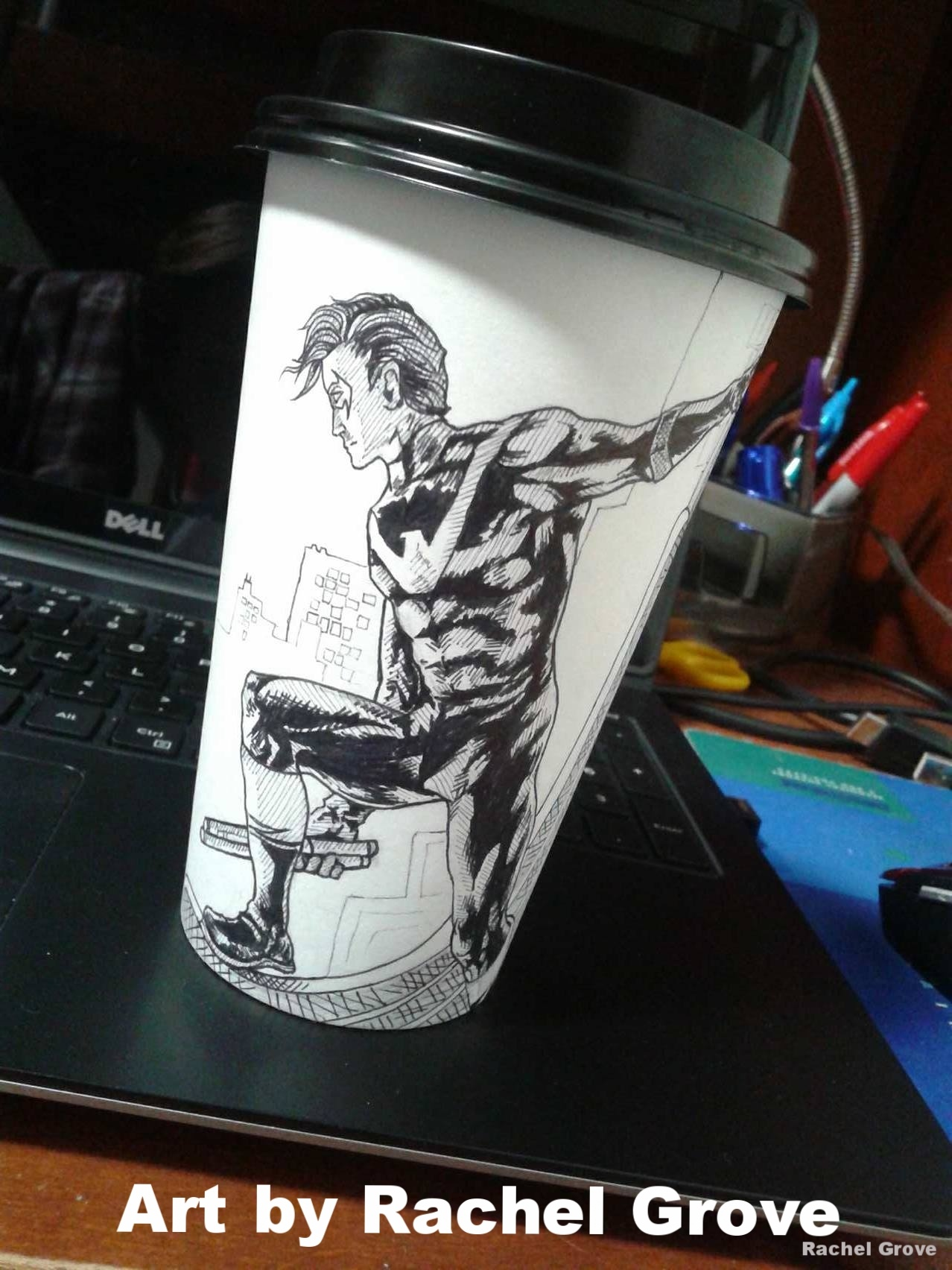 Doodles on a paper cup