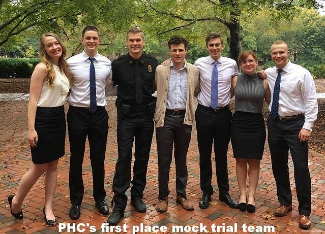 PHC's first place mock trial team