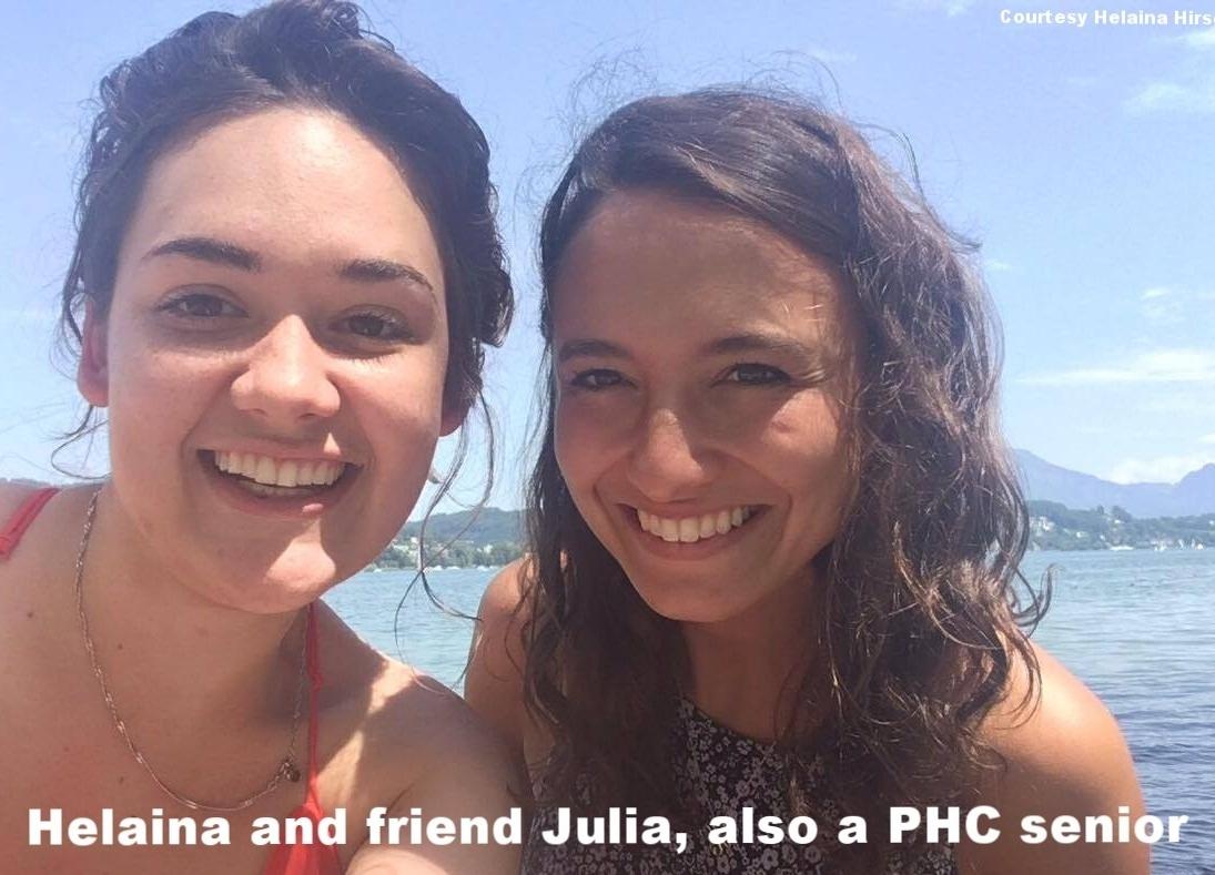 Helaina and friend Julia