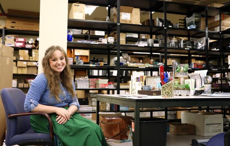 Rachel Hankinson Student Mailroom Worker