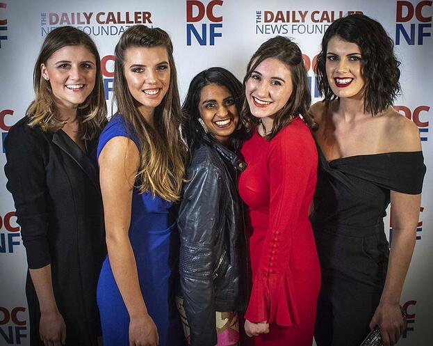 Fordham with Payton and other colleagues at the Daily Caller News Gala , December 2017