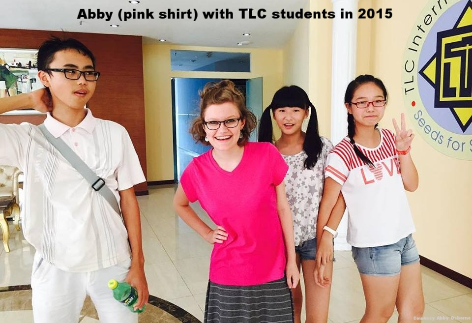 Abby with TLC students