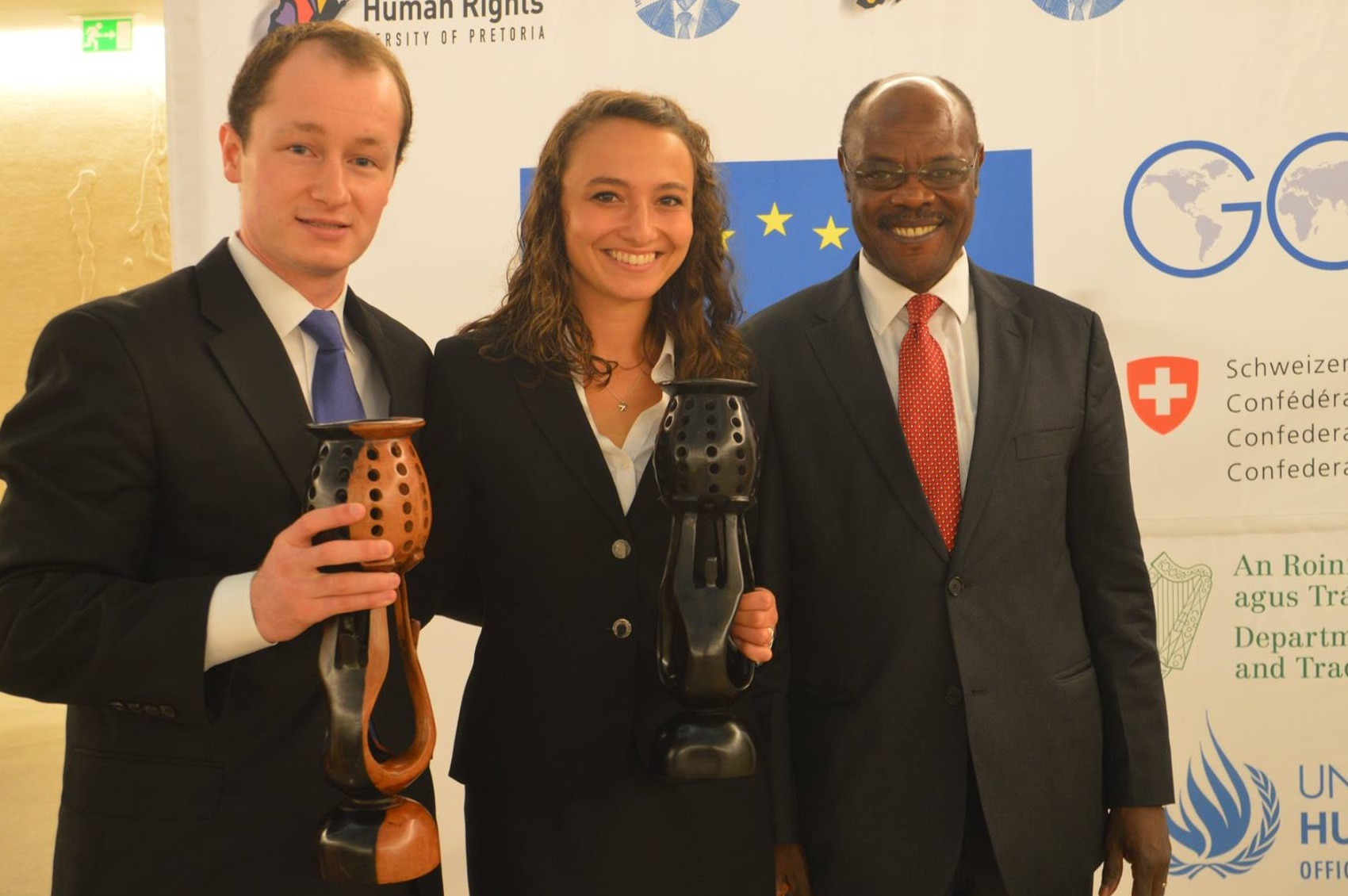 Patrick Henry College moot court team at 2016 Nelson Mandela World Human Rights Moot Court Competition