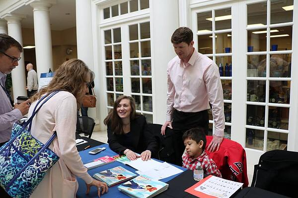 Brooke Hamlin with Noah Spiker at Book Signing