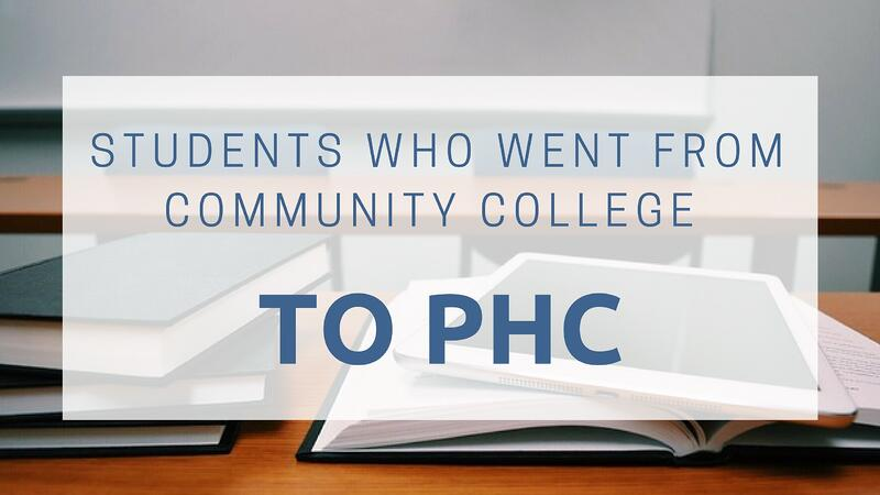 Students who went from community college to phc