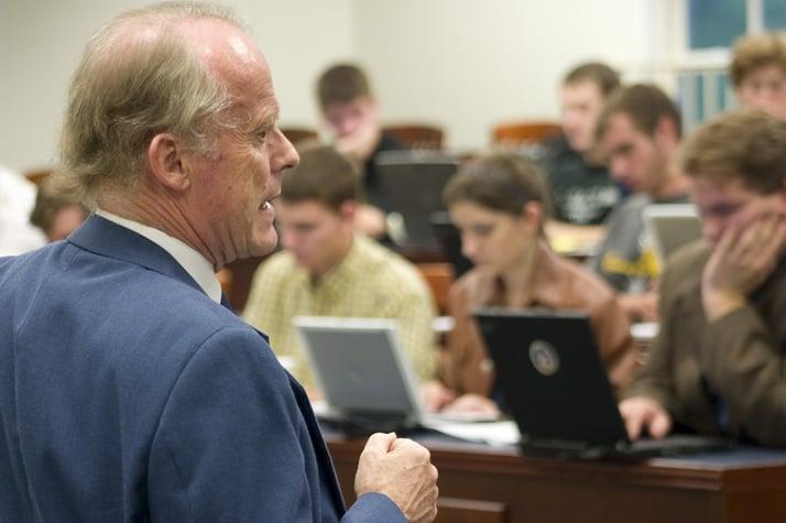 Dr. David Aikman teaching at Patrick Henry College (PHC)