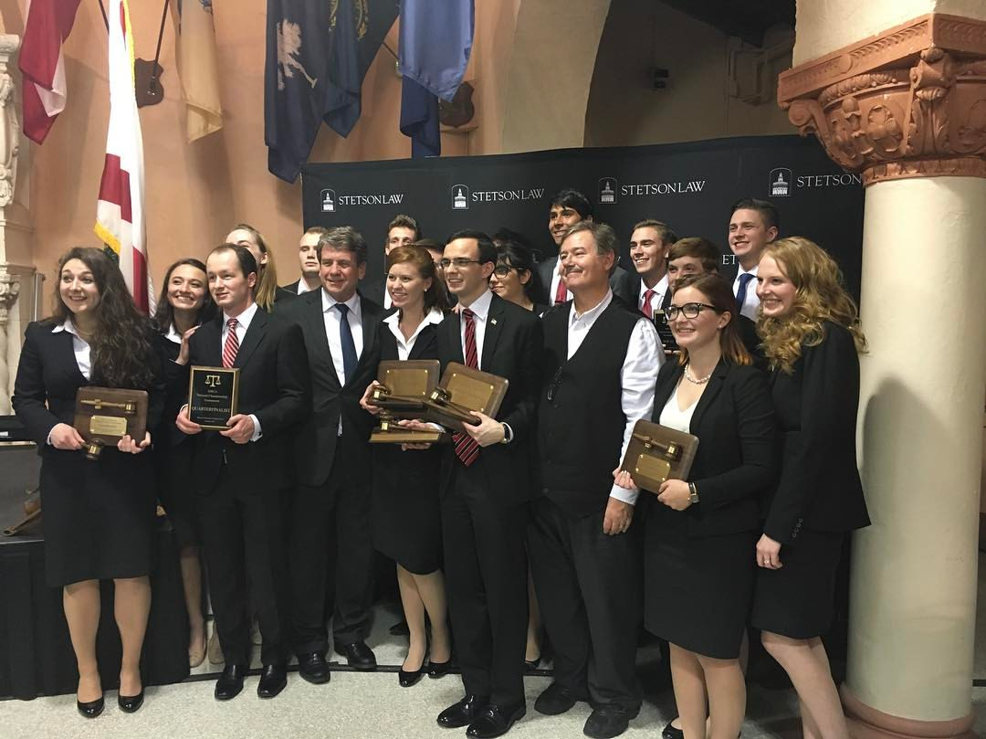 Patrick Henry College's moot court team winning intercollegiate national championship at Stetson University College of Law