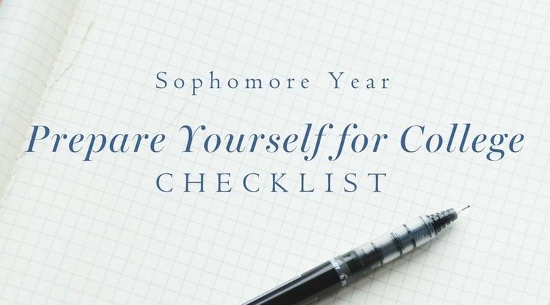 High school sophomore prepare for college checklist