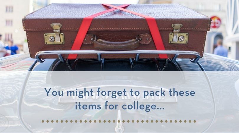 you might forget to pack these items for college...