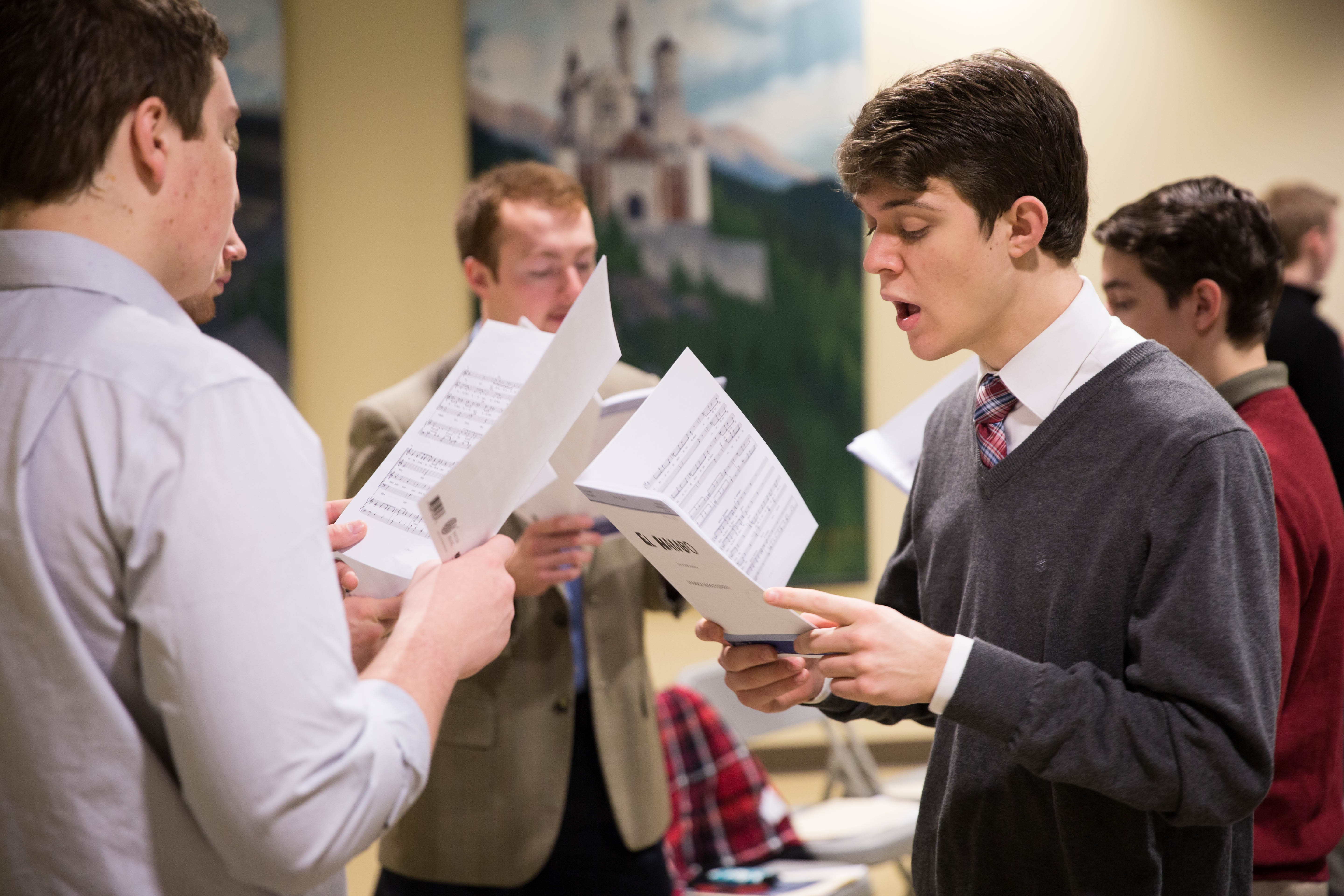 Patrick Henry College (PHC) chorale practice