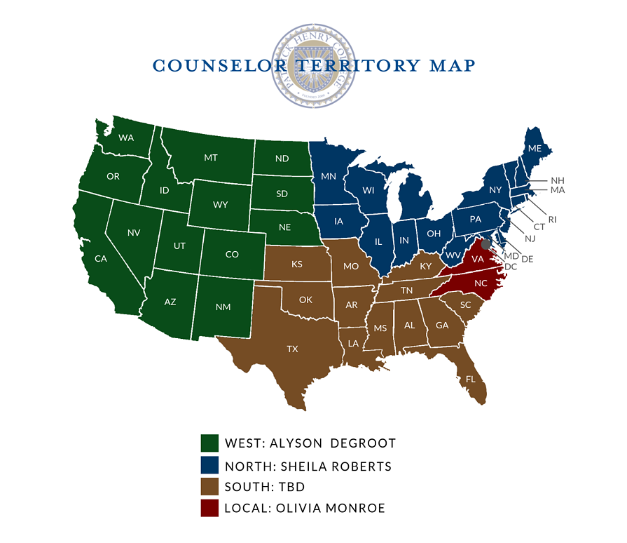 Counselor Territory Map