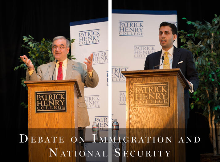 Mark Krikorian and Alex Nowrasteh debate on immigration and national security at Patrick Henry College (PHC)