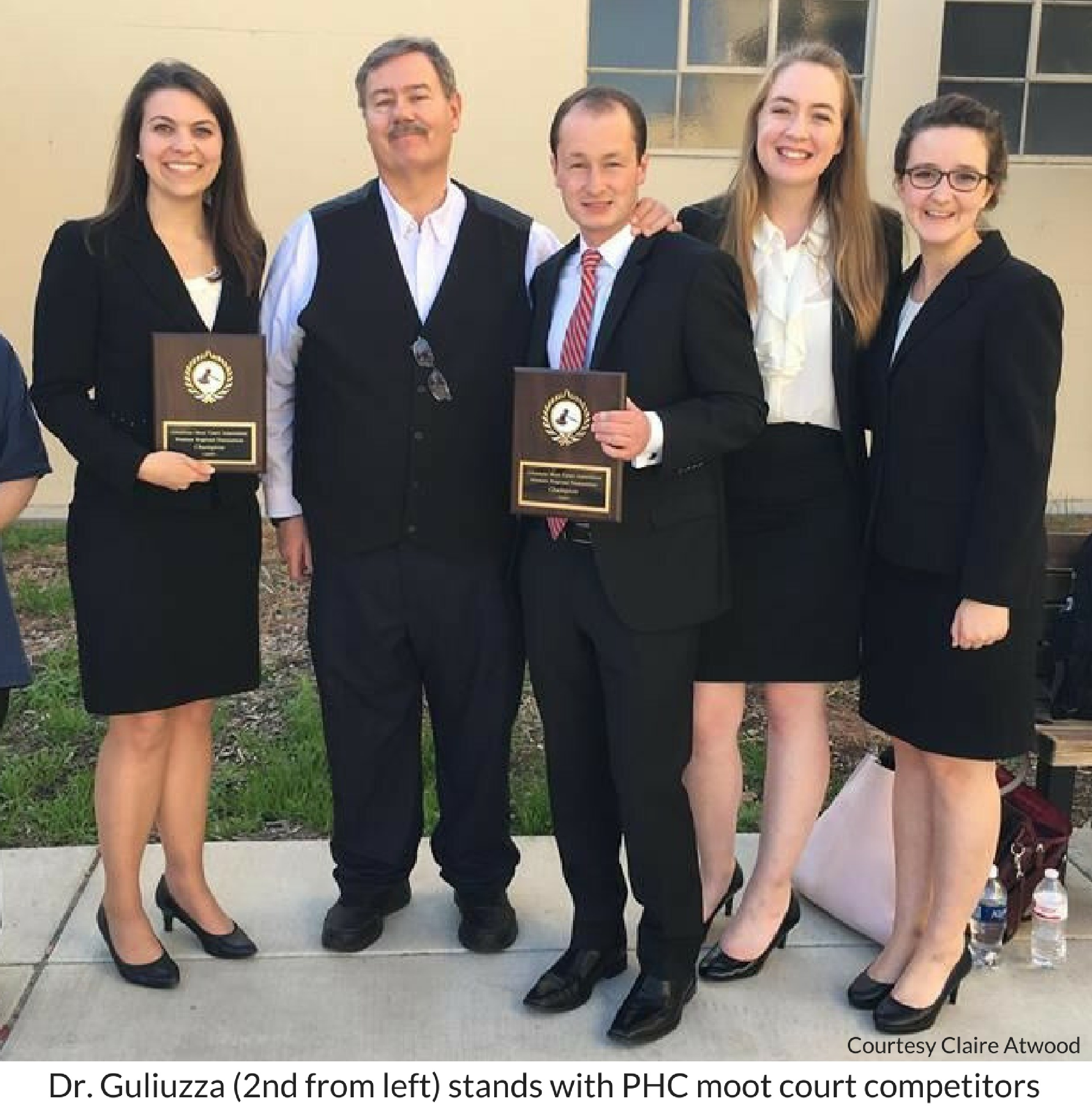PHC moot court competitors