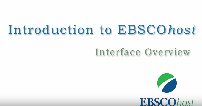 Introduction to EBSCOhost