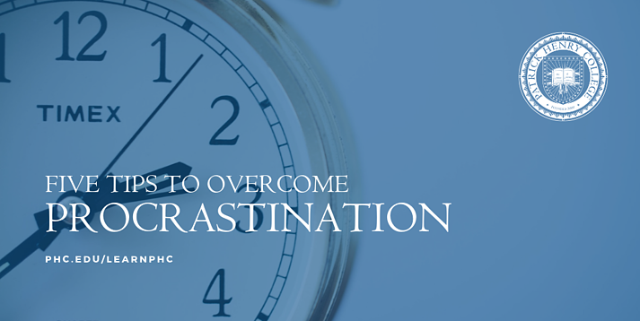 FIVE TIPS TO OVERCOMING PROCRASTINATION