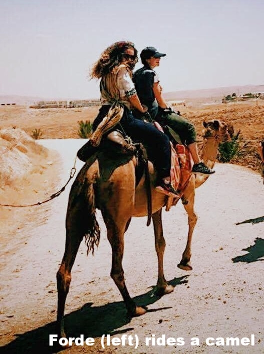 Patrick Henry College student rides a camel