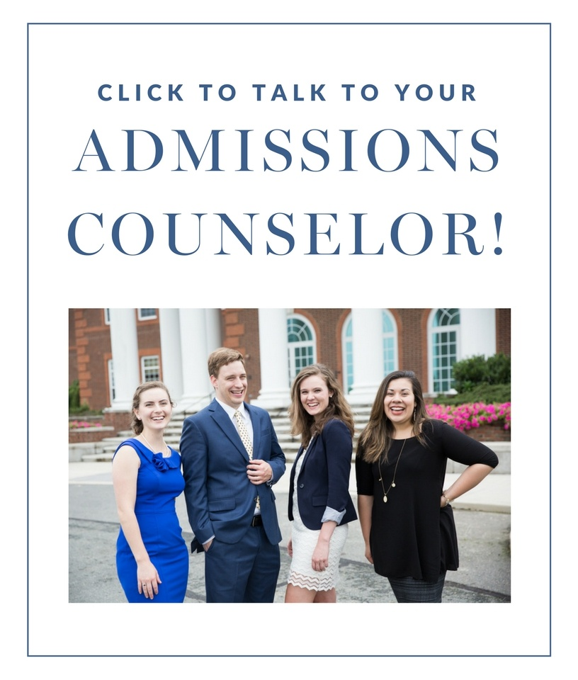 talk to your admissions counselor