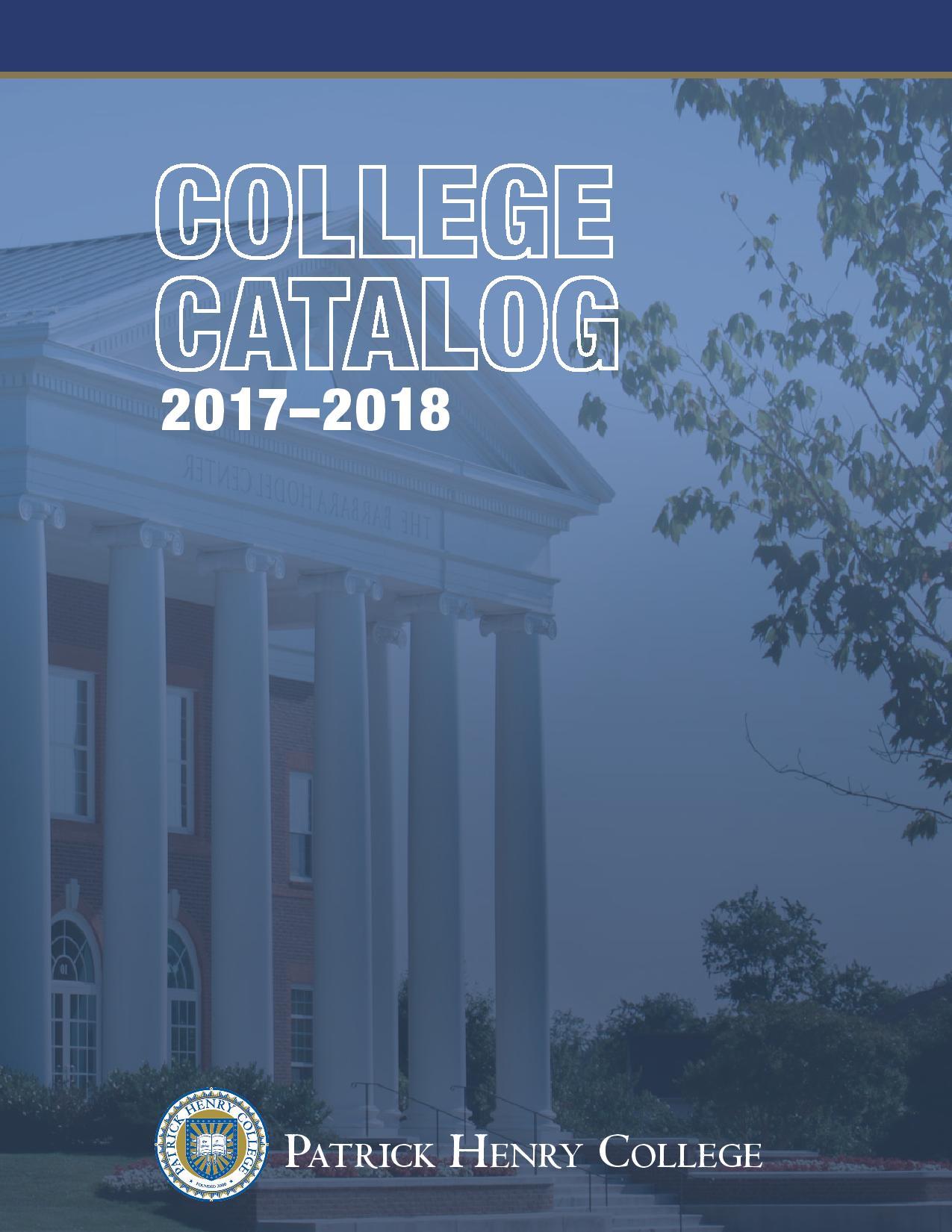 2017-2018 Catalog Cover