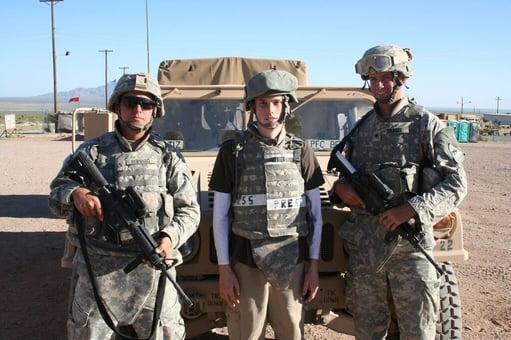Robby embedded in Army training, photo courtesy of Jorge Salgado/El Paso Inc.