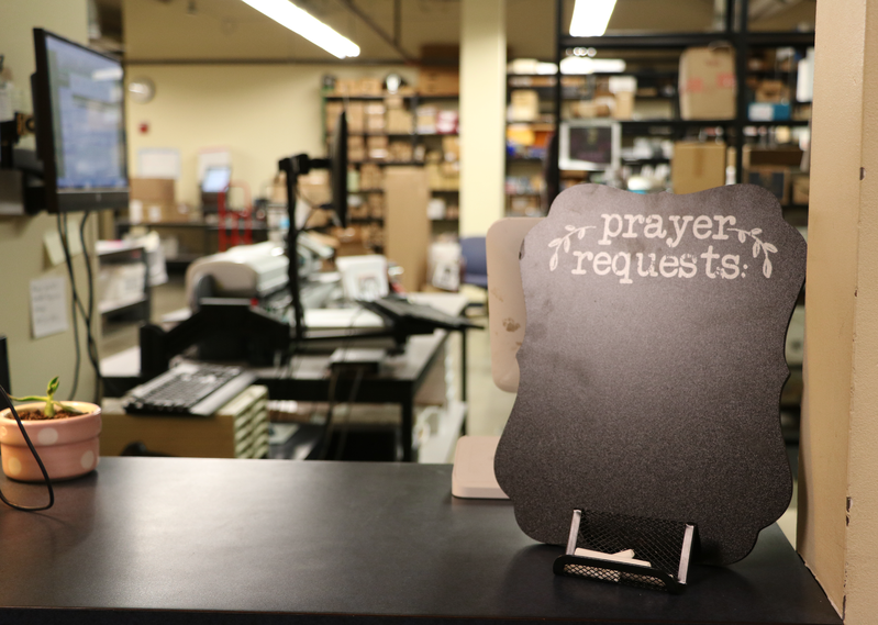 Mailroom and prayer request