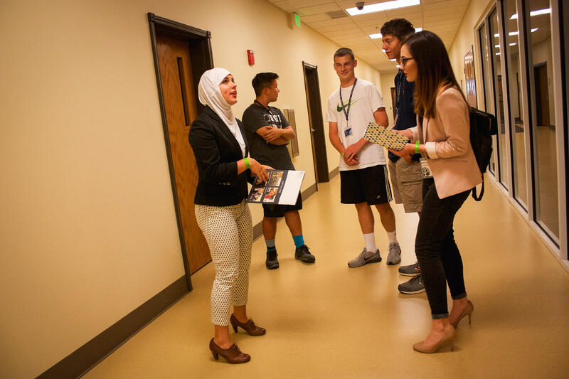 Prospective Students in BHC Hallway