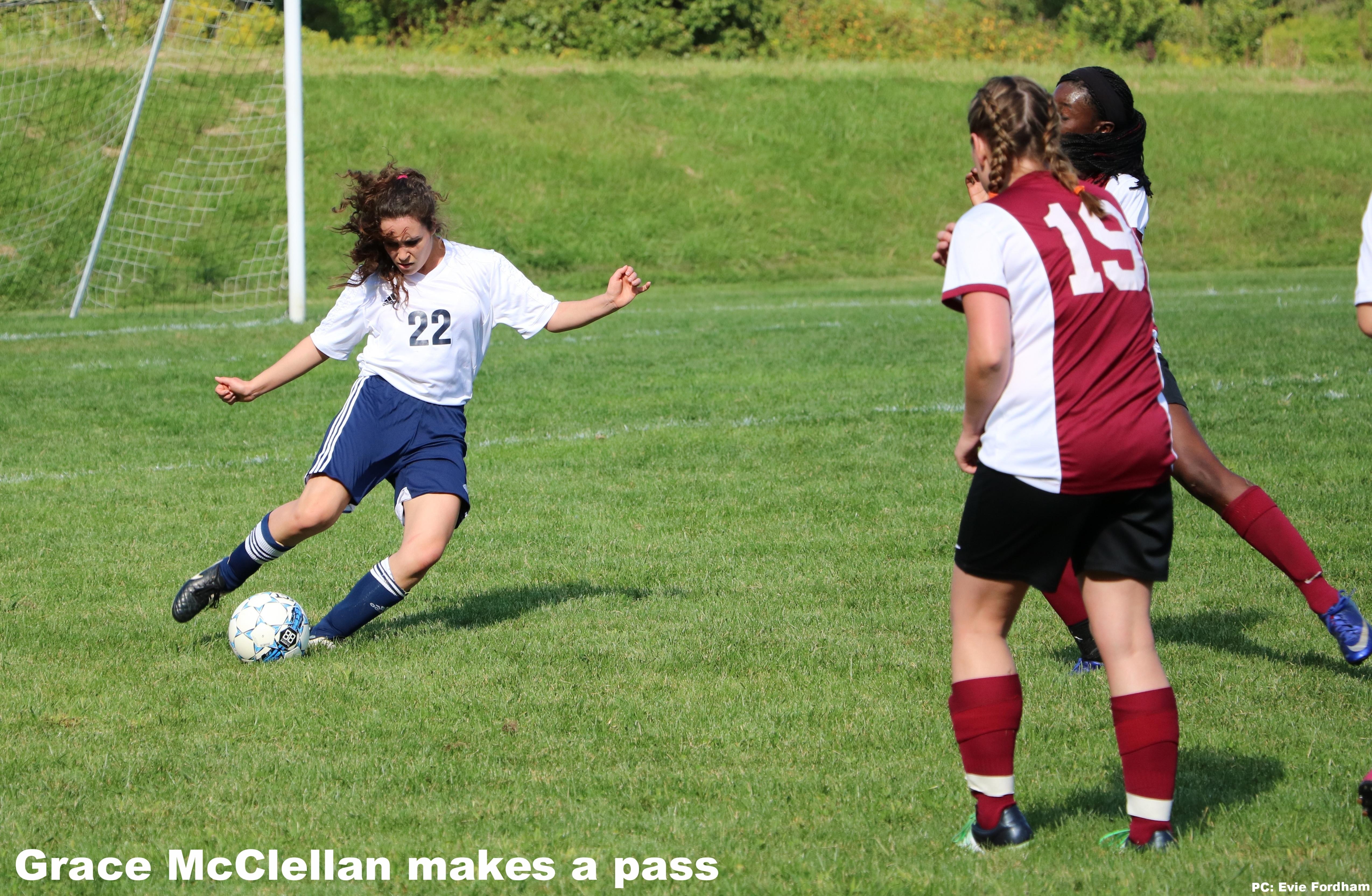Grace McClellan makes a pass
