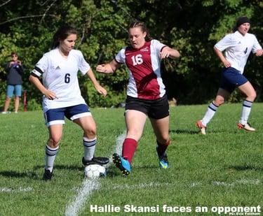 Team co-captain Hallie Skansi