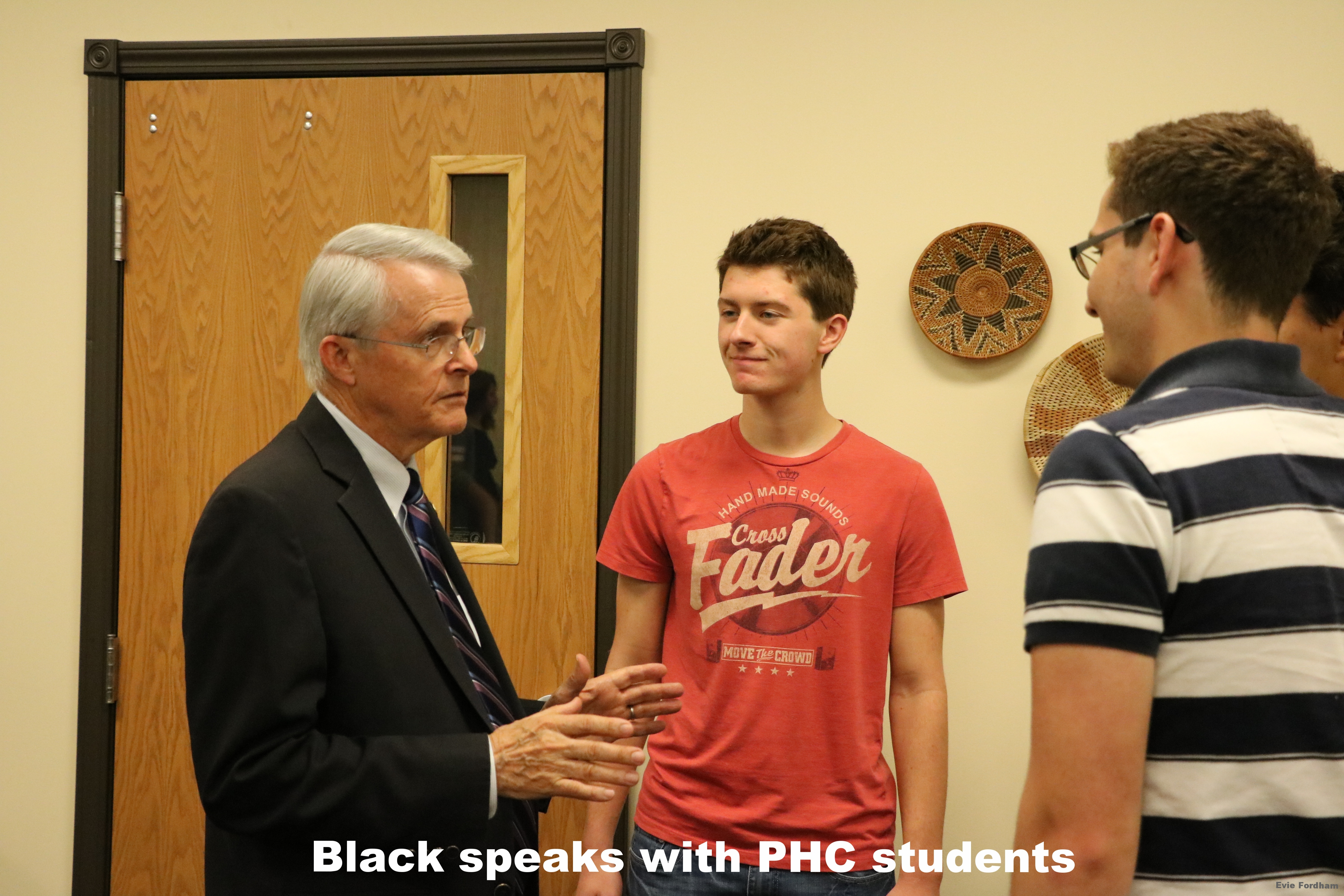 Black speaks with PHC students
