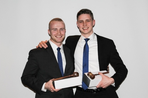 Engle and Baldacci - Moot Court Champions!