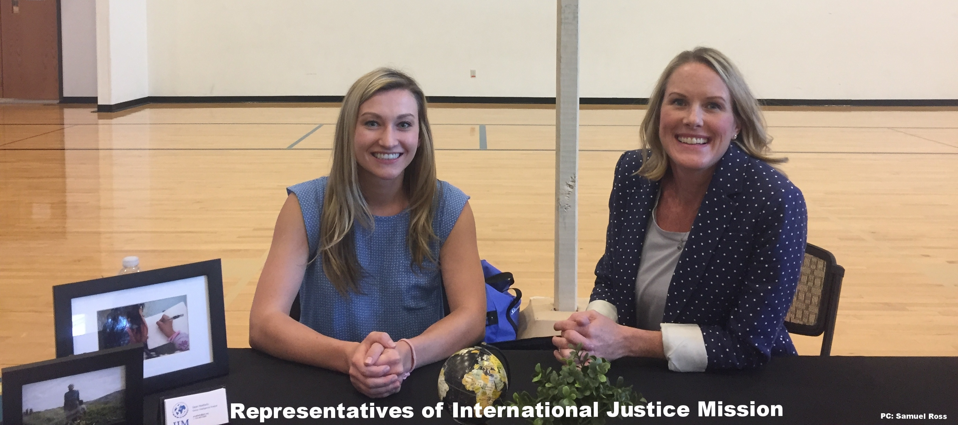 International Justice Mission representatives at the fair