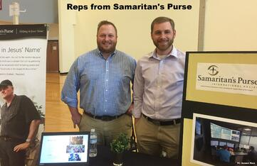 Represenatives from Samaritan's Purse at the fair