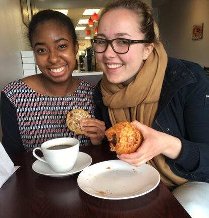 Patrick Henry College Students trying new food