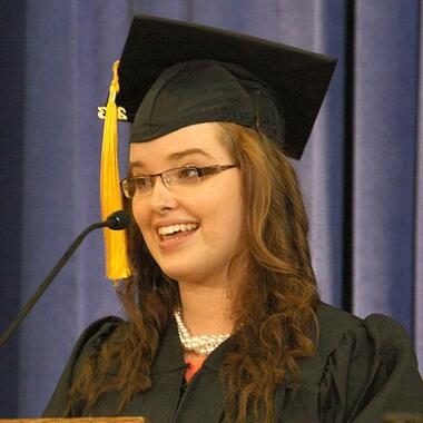 Patrick Henry College (PHC) graduate and 2013 PHC commencement speaker Chelsea Boes