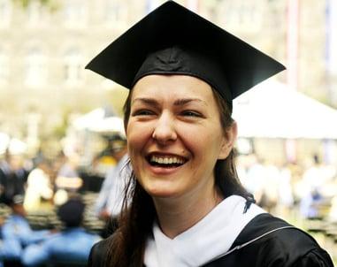 Rebekah Moughon, graduate of Georgetown University's School of Foreign Service