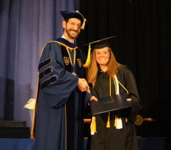 Dr. Graham Walker and Patrick Henry College graduate Michelle Wright