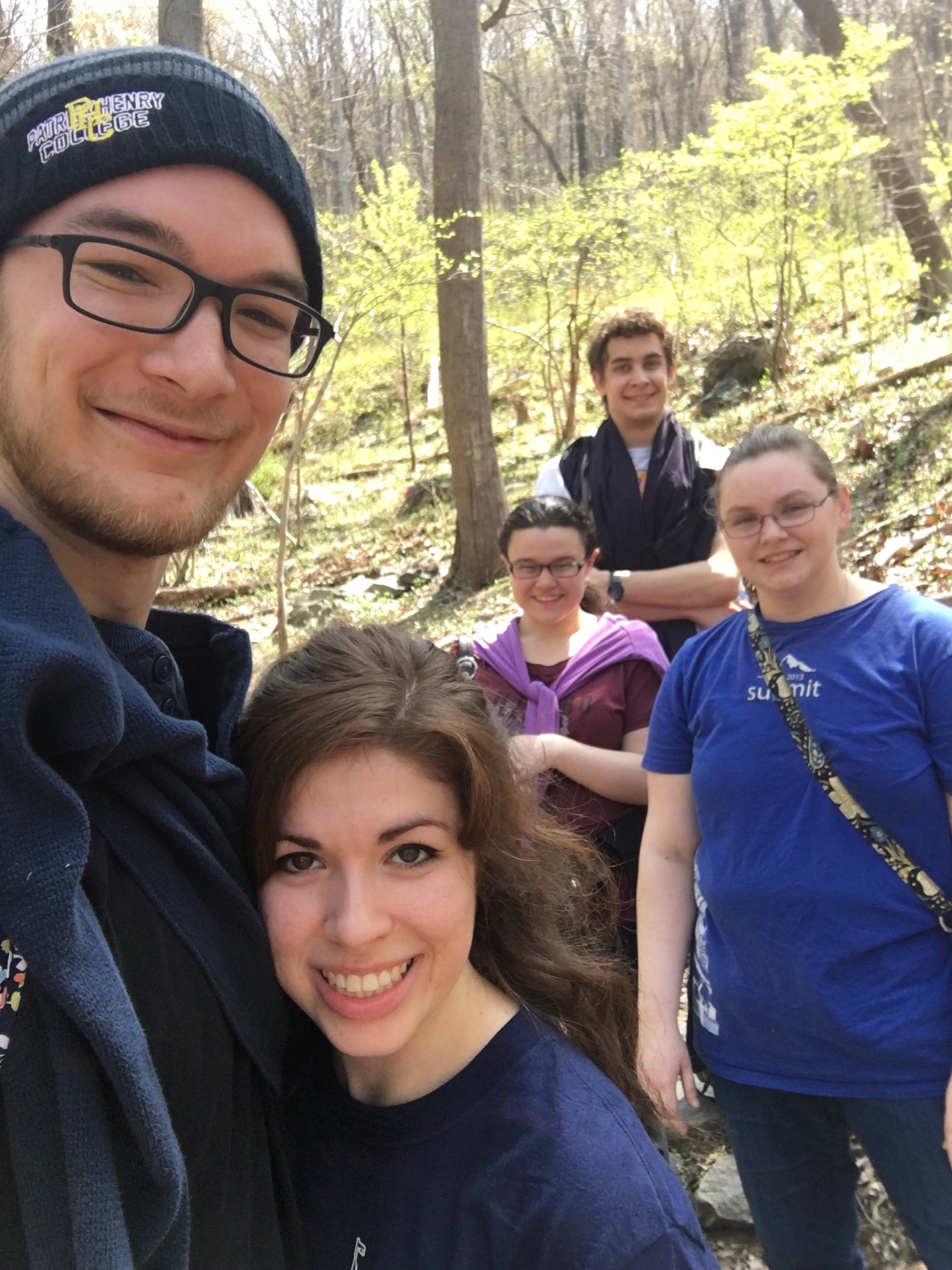 Patrick Henry College Students hiking at Harper's Ferry PC Katie Segesdy