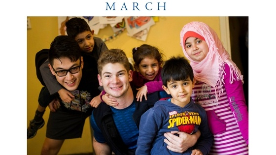 PHC students with refugee children in Greece