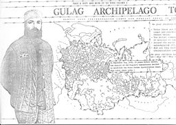 Gulag Archipelago Alexander Solzhenitsyn image courtesy Wikimedia Commons user IrenaGenseruk