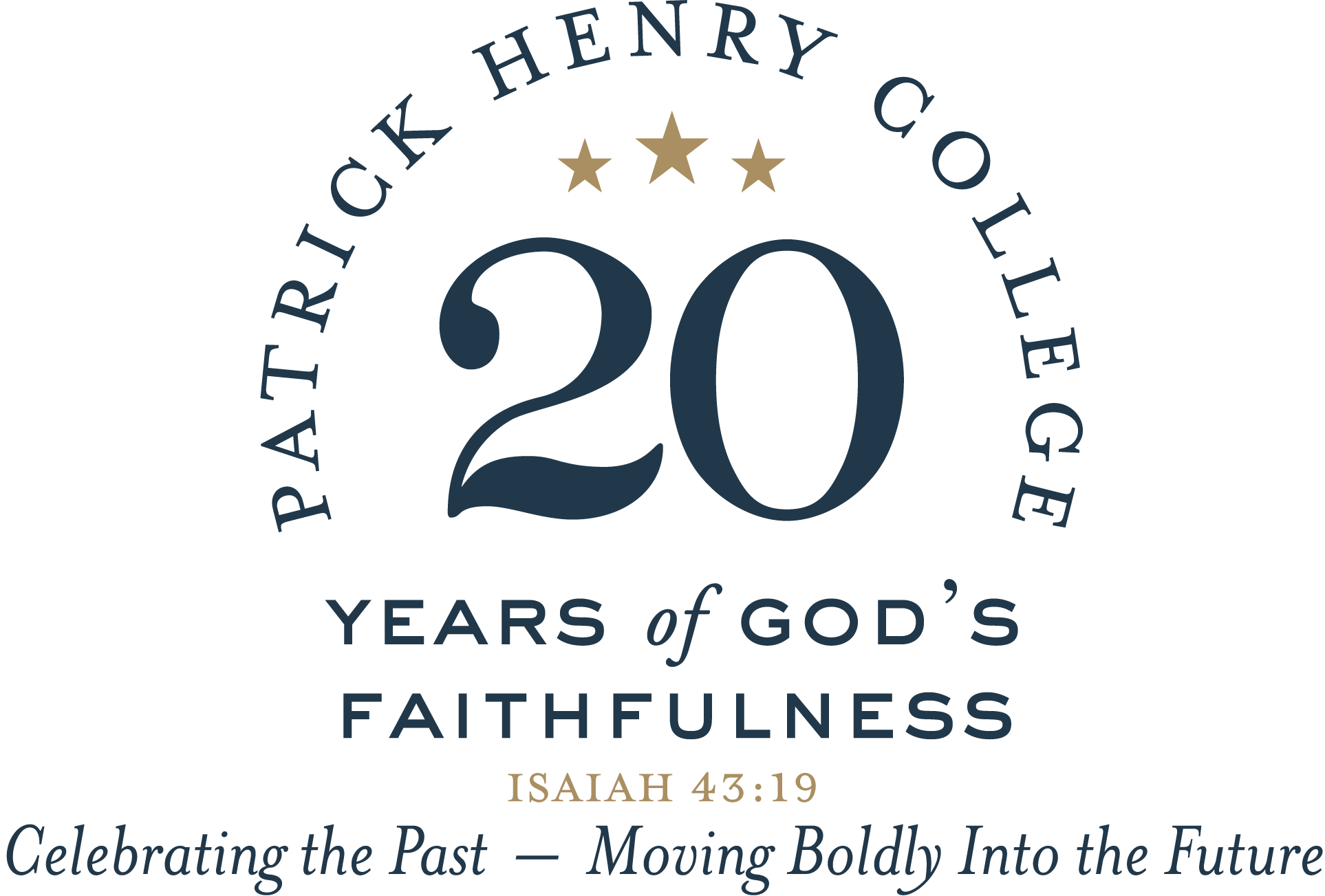 Master Blue and Gold Anniv. logo with tagline, Scripture, final