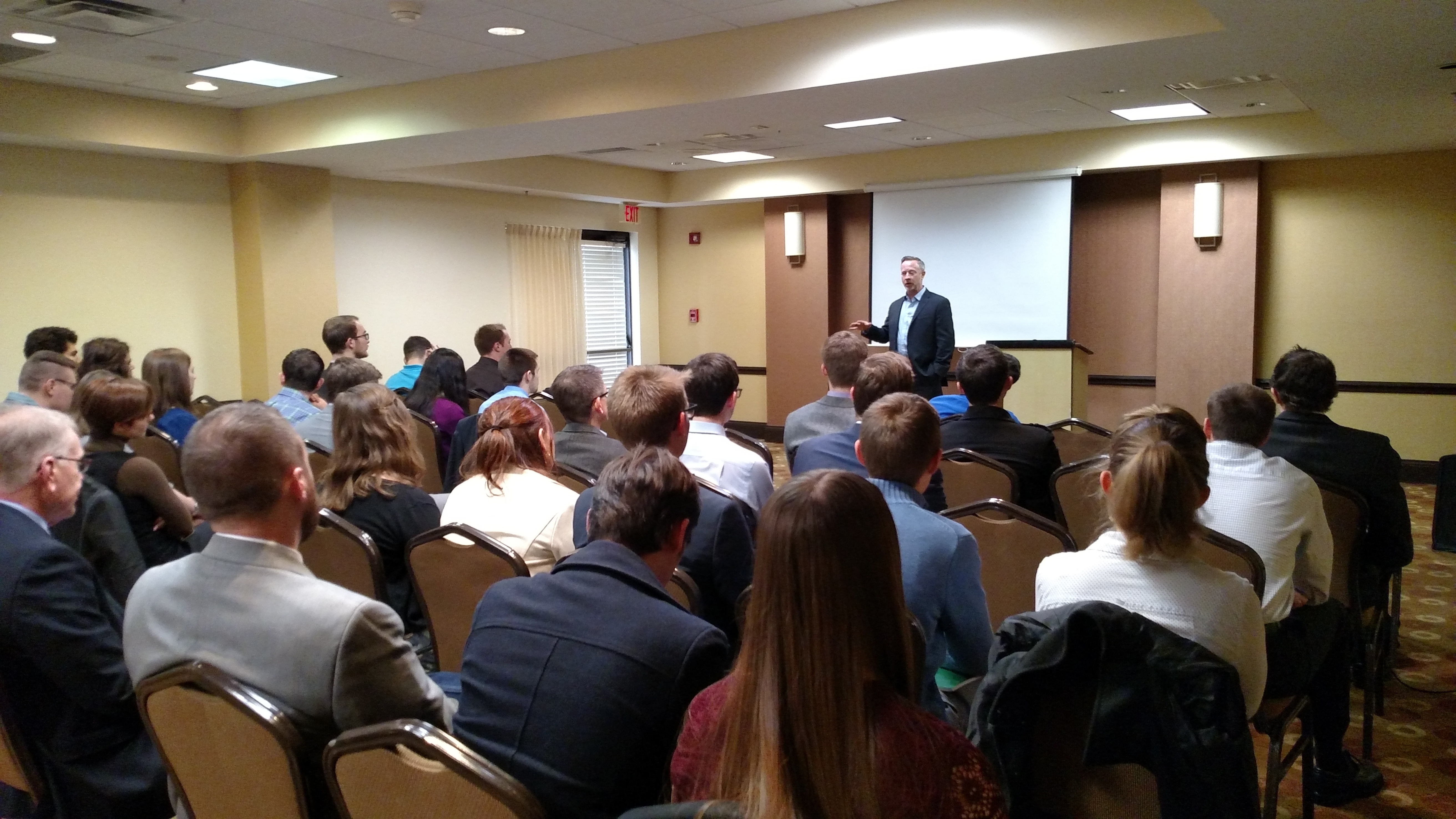 Max Everett speaks at the Patrick Henry College (PHC) American Politics and Policy (APP) conference