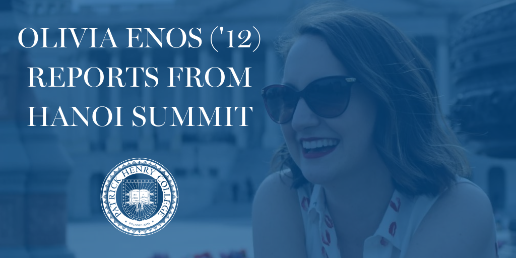 Olivia Enos ('12) reports from hanoi summit in vietnam