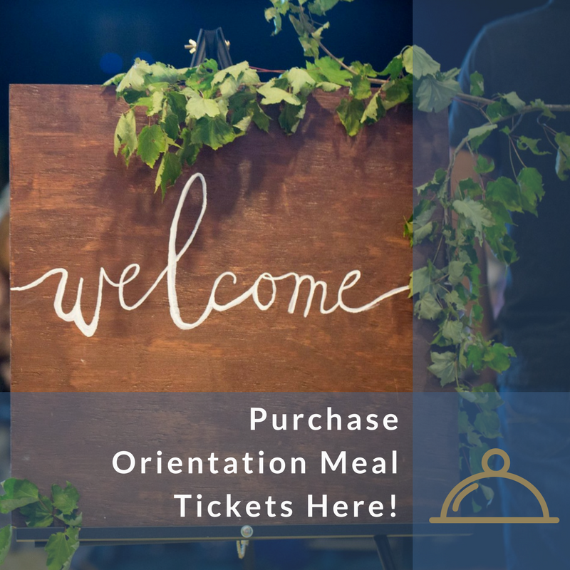 Orientation Meal Tickets